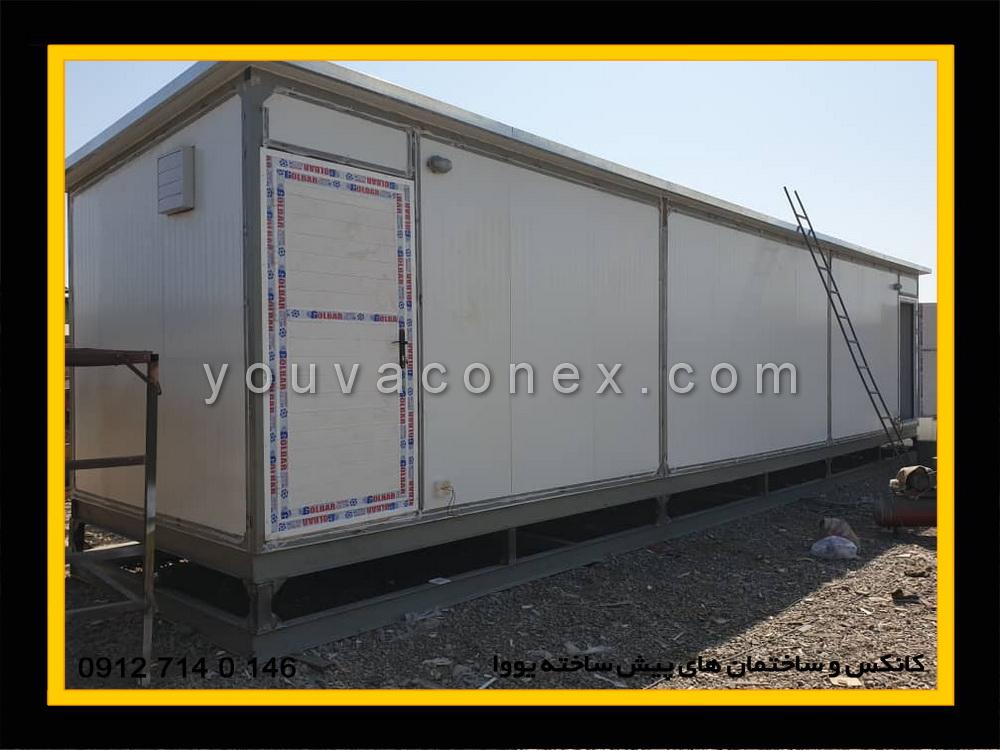 ساخت و ارسال کانکس سرویس بهداشتی دوازده چشمه پانلی